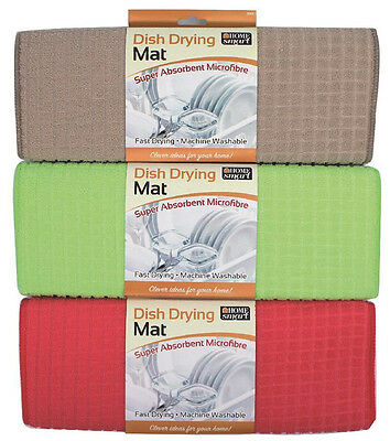 Microfibre Highly Absorbent Dish Drying Mat Kitchen Washing Up Sink Tea Towel