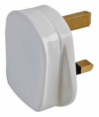PRO ELEC - 3A Plug with Quickfit Cord Grip, White