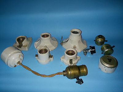 Antique  Porcelain Fixtures / Steampunk / Switches And Sockets