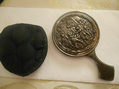 Vintage Holland American Cruise Gift Hand Vanity Mirror Collectible