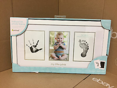 Pearhead Babyprints Newborn Baby Handprint and Footprint Photo Frame - New