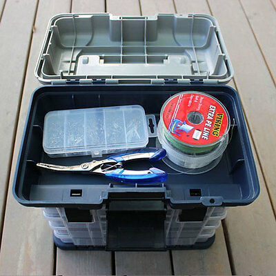 Portable 5 Layer Big Fishing Tackle Tool Storage Box Case with Handle Plastic