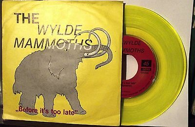 """7""""-The Wylde Mammoths-Before It's Too Late/i Can't Win-Vinile Giallo"""