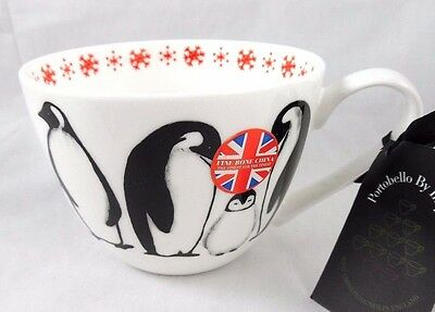 """Portobello By Inspire Penquins With """"baby It's Cold Outside"""" Coffee Mug Cup New!"""