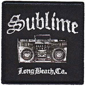 Sublime Men's Boombox Embroidered Patch Black