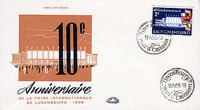 Luxemburg 581 FDC, 10. Internationale Messe 1958