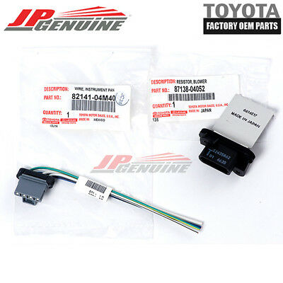 Toyota Tacoma 05-15 Genuine Oem Blower Motor Resistor + Pigtail Connector