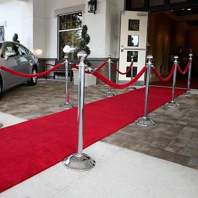 Red Grandeur Plush Pile Wedding Event Exhibition Thick Washable Carpet Aisle Run