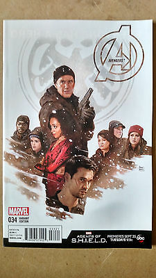 Avengers #34 1St Print Paolo Rivera Agents Of Shield Variant Marvel (2016)