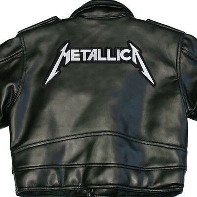 Metallica New X-Large Back Sew On Patch Black White Letters New Rare