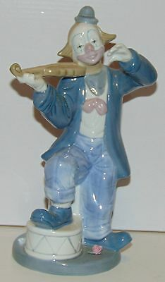 Paul Sebastian Porcelain clown with fiddle violin figurine