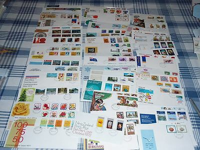 FDC Lovely Mix New Zealand Envelopes 1970s and a few 1980s Collectible Unused