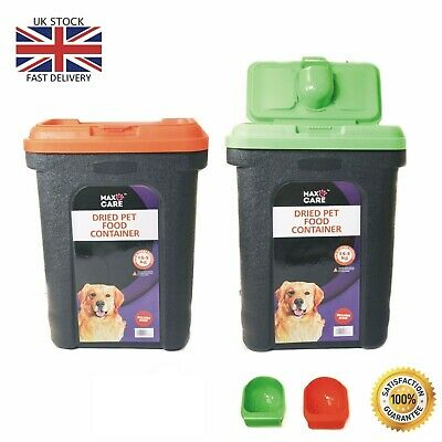 Large Pet Food Container Dog Cat Animal Storage Bin Dry Feed  Seed UK