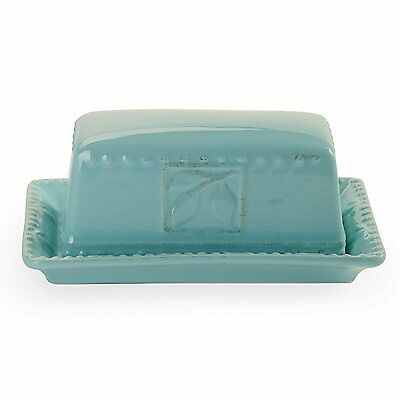 Signature Housewares Sorrento Collection Butter Dish, Aqua (71163)