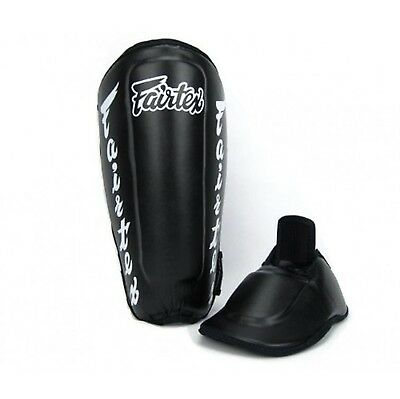 Fairtex Twister Shin Guards / In Steps SP7 Black Medium Muay Thai MMA Kick Boxin