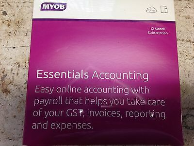 Business Software MYOB Essentials Accouting with Payroll 12 Months Subscription