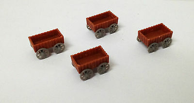 Outland Models Railway Scenery Cargo Goods Cart x4 for Station Depot Scale HO OO