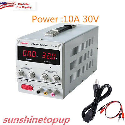 30V 10A Precision Variable DC Power Supply Digital Adjustable Dual LED Best