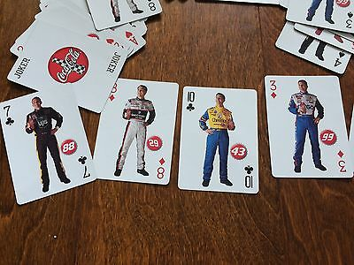 NASCAR coca cola playing cards