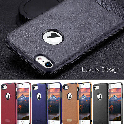Luxury Ultra-thin PU Leather TPU Back Skin Case Cover For iPhone 7 & 6/6S Plus