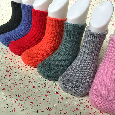 5 Pairs Lot Baby Toddler Boys/Girls Kid 98% Cashmere Wool Thick Warm Soft Socks