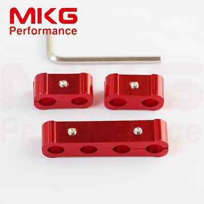 Engine Spark Plug Wire Separator Drive Clamp Kit For 7mm 8mm 12pcs Red