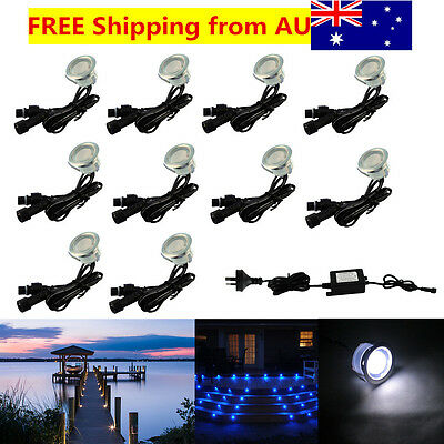 10X 31mm IP67 12V 0.6W Outdoor Yard Path Stairs Patio LED Boat Deck Floor Lights