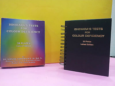 Latest Edition 38 PLATE ISHIHARA TESTS BOOK - FOR COLOR BLINDNESS