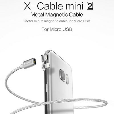 Genuine WSKEN Mini 2 Metal Magnetic X-cable Micro USB Plug Charging Cable iPhone