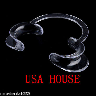 20pcs Clear Dental Teeth Whitening Cheek Retractor Mouth Opener C Type Small US