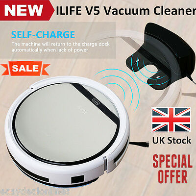 ILIFE V5 Vacuum Cleaner Smart Cleaning Robot Floor Auto Dust Sweeping Machine UK