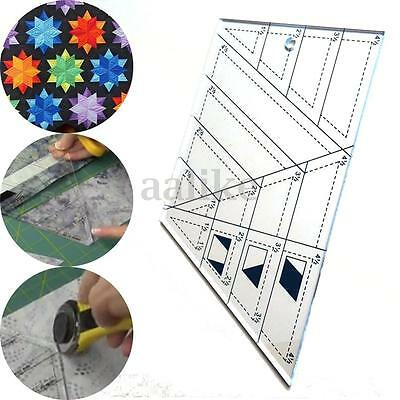 Trapezoid Polygon Patchwork Scale Ruler Foot Ladder Tailor Quilting Sewing Craft