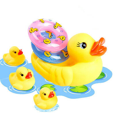 Yellow Rubber Ducks Bathtime Squeaky Bath Toy Water Play Kids Toddler Toy Set
