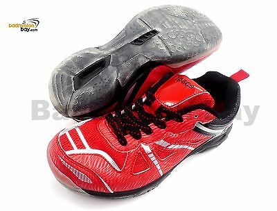 Apacs Cushion Power 070 Red Badminton Shoes With Transparent Outsole and Improve