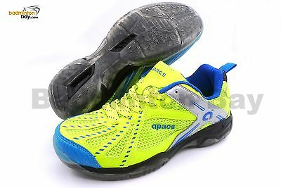 Apacs Cushion Power 071 Neon Green Badminton Shoes With Transparent Outsole