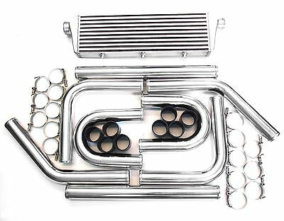 "2.5"" 63mm Universal INTERCOOLER COMPLETE KIT C 550x180x65mm"