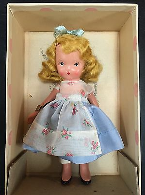 """VINTAGE NANCY ANN STORYBOOK CHARACTER DOLL """"ROSES ARE RED"""" #113 w/ BOX & ARM TAG"""