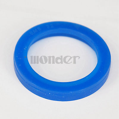 (5) Blue Silicone Flat Gasket Ring Washer Fit 32mm O/D Sanitary SMS Socket Union