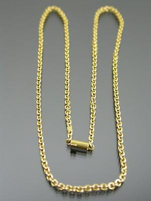 ANTIQUE 15ct GOLD CABLE LINK NECKLACE CHAIN 16 inch C.1880