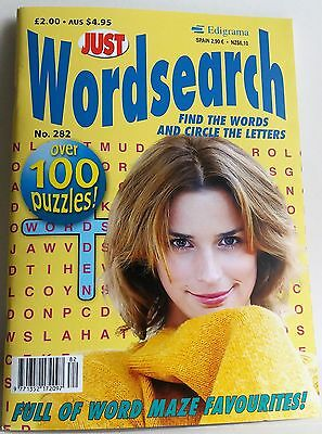 Wordsearch Just Wordsearch Puzzle Book Issue No. 282 P&p Incl. New