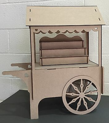Y87 XXL SWEET CANDY CART Wedding GIFT Party Birthday Unpainted MDF Table Display