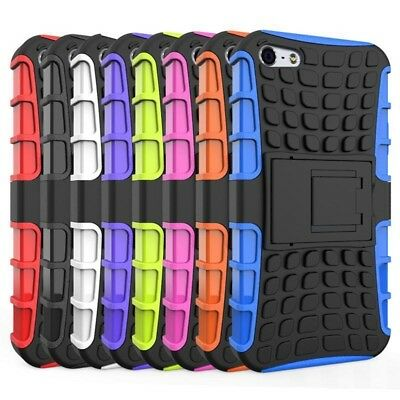 NEW Heavy Duty Armor Shockproof Hard Soft Silicone Rugged Rubber Case For iPhone