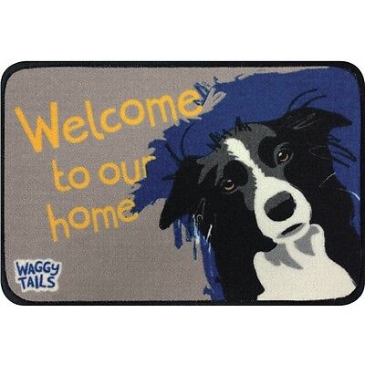 Floor Mat - Waggy Tails - Border Collie