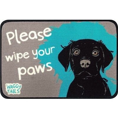 Floor Mat - Waggy Tails - Black Labrador
