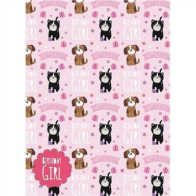 Gift Wrap & Tags - Cute Puppy & Kitten (2 Sheets+Tags)