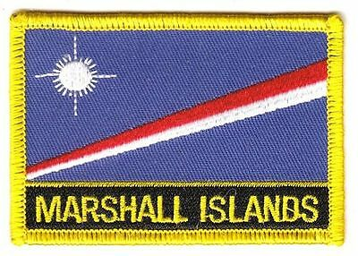 Aufnäher Marshall Inseln Schrift Patch Flagge Fahne