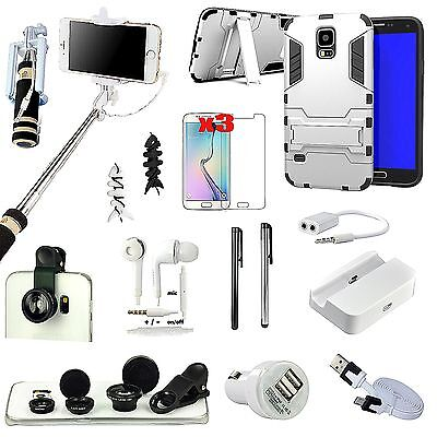 15 PCS Case Cover Charger Monopod Fish Eye Accessory Pack For Samsung Galaxy S5