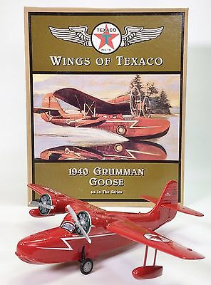 Ertl Wings Of Texaco 1940 Grumman Goose Die Cast Coin Bank Replica Nib