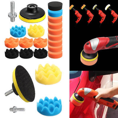 "19pcs 3"" 80mm Sponge Foam Polishing Buffing Pad Kit Set for Car Auto Polisher"