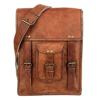 Fair Trade Handmade Brown Leather Satchel Style Shoulder Bag - 2nd Quality